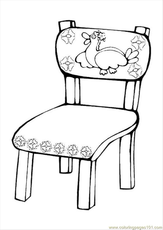 Ures pages photo chair p coloring page free furnitures for Sillas para colorear