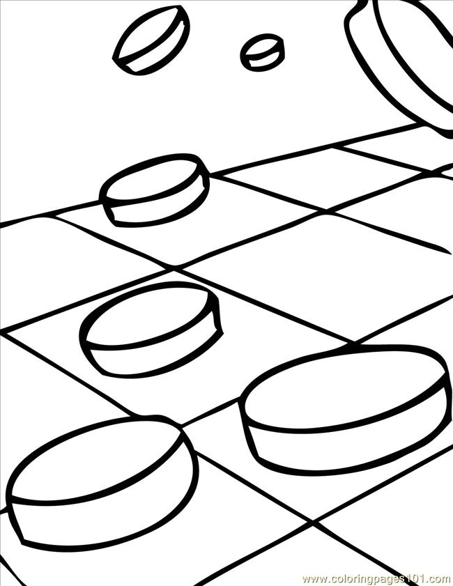 4 Checkers Ink Coloring Page