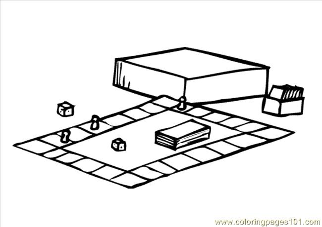 58 Pages Photo Board Game Dl9570 Coloring Page