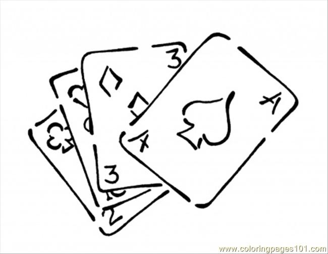 93 Playing Cards Coloring Page Coloring Page