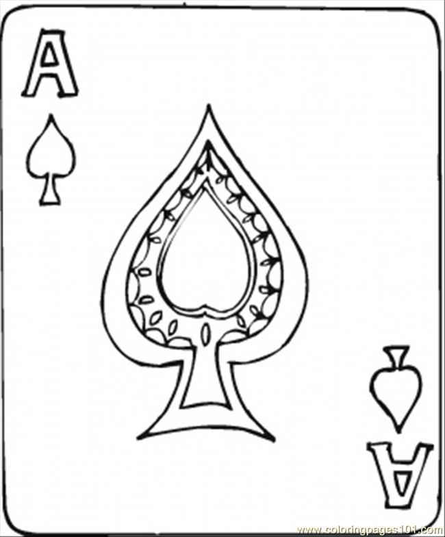 93 Spades Ace Coloring Page Coloring Page
