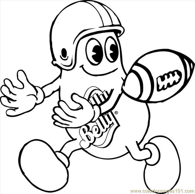 Mrjb Footballreceiver Coloring Page