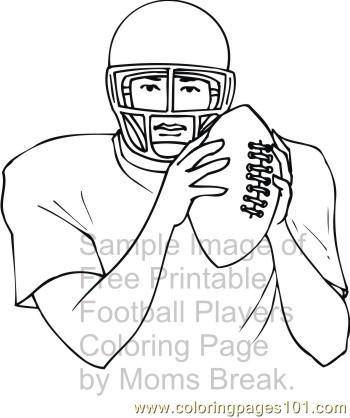 football player 1 coloring page - Coloring Pages Football Players