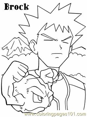 Pokemon Brock Coloring Page