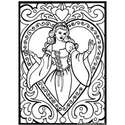 32 Princess Coloring Pages Free Coloring Page for Kids