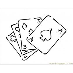 93 Playing Cards Coloring Page