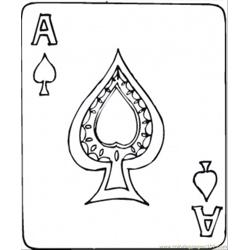 93 Spades Ace Coloring Page