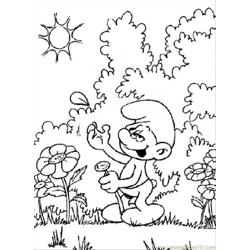 F In The Garden Coloring Page