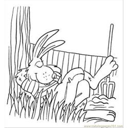 S In The Garden Coloring Page Free Coloring Page for Kids