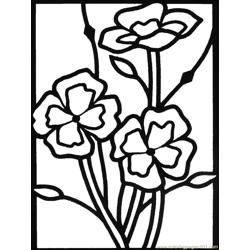 Wildflowers02 Free Coloring Page for Kids