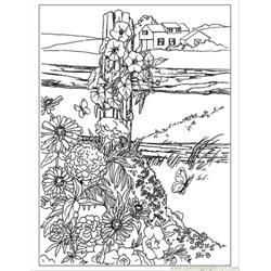 Wildflowers Preview Free Coloring Page for Kids