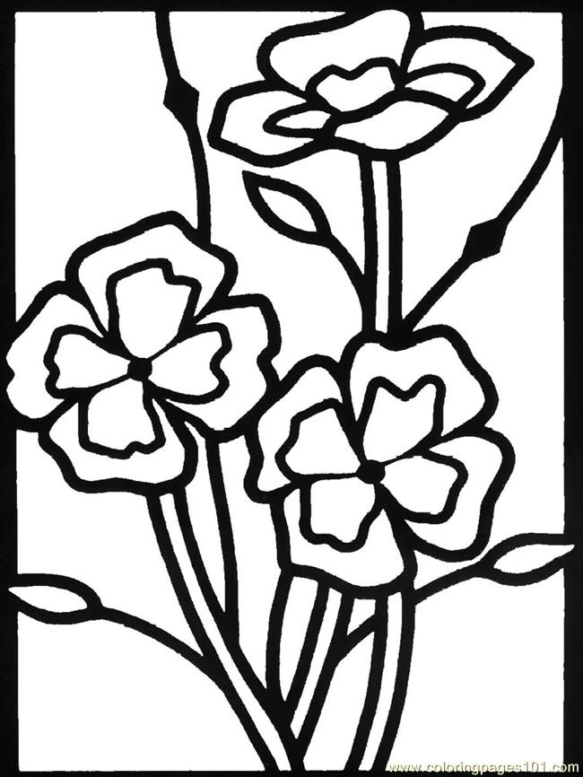 Wildflowers02 Coloring Page