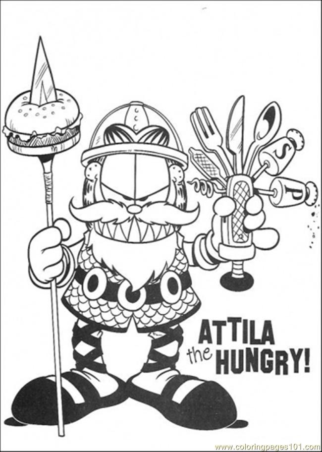Attila The Hungry Coloring Page