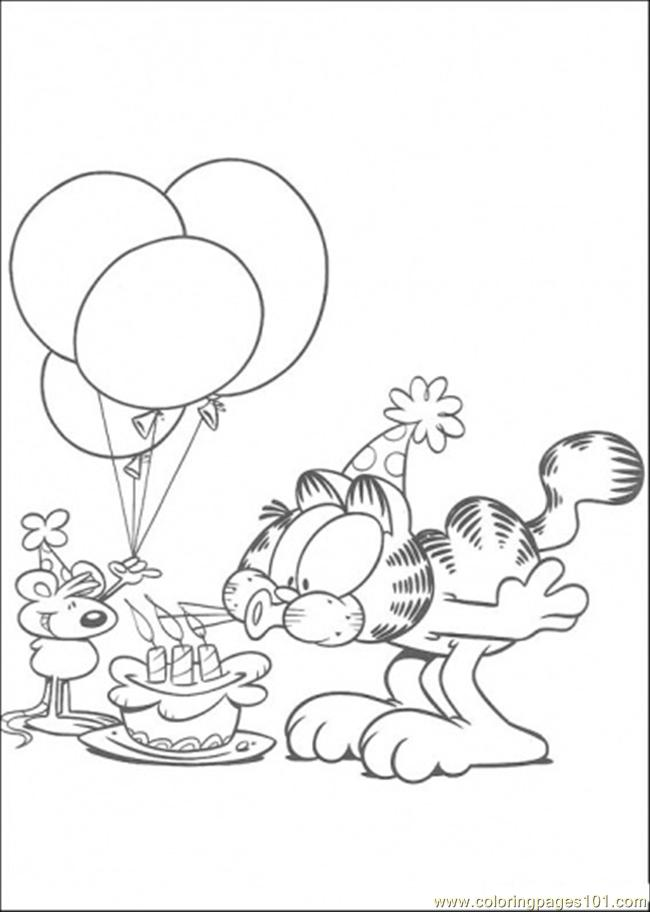 Blow The Candle Coloring Page