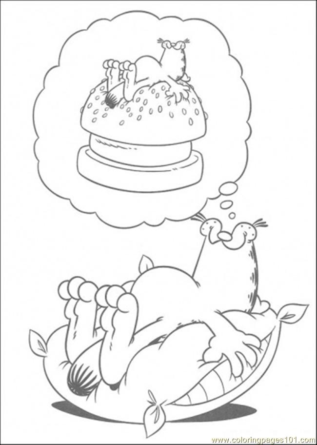 dream coloring page free garfield coloring pages