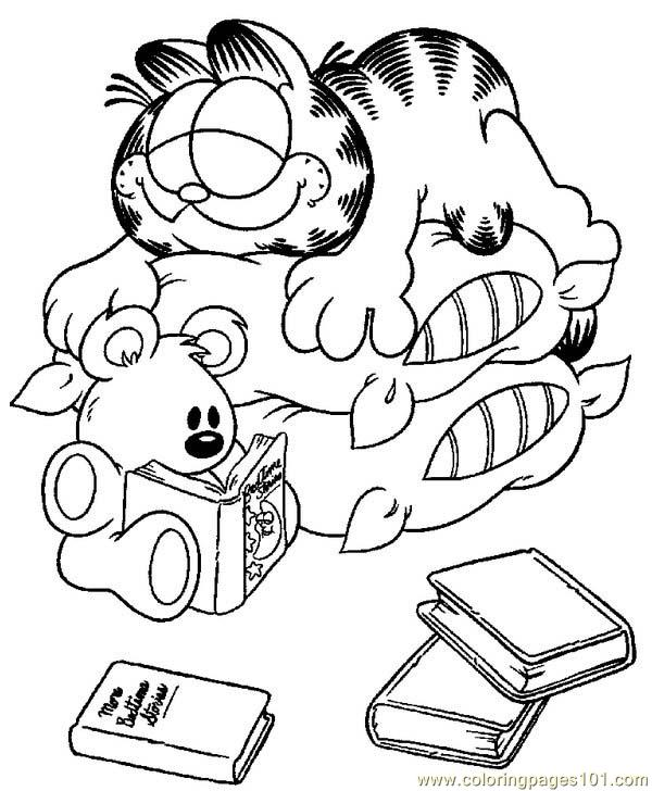 Garfield 11 Coloring Page