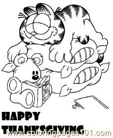 Garfieldmed Coloring Page