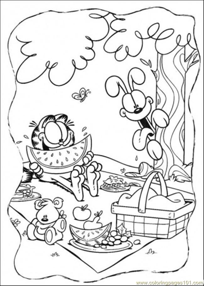 Happy Lunch Coloring Page