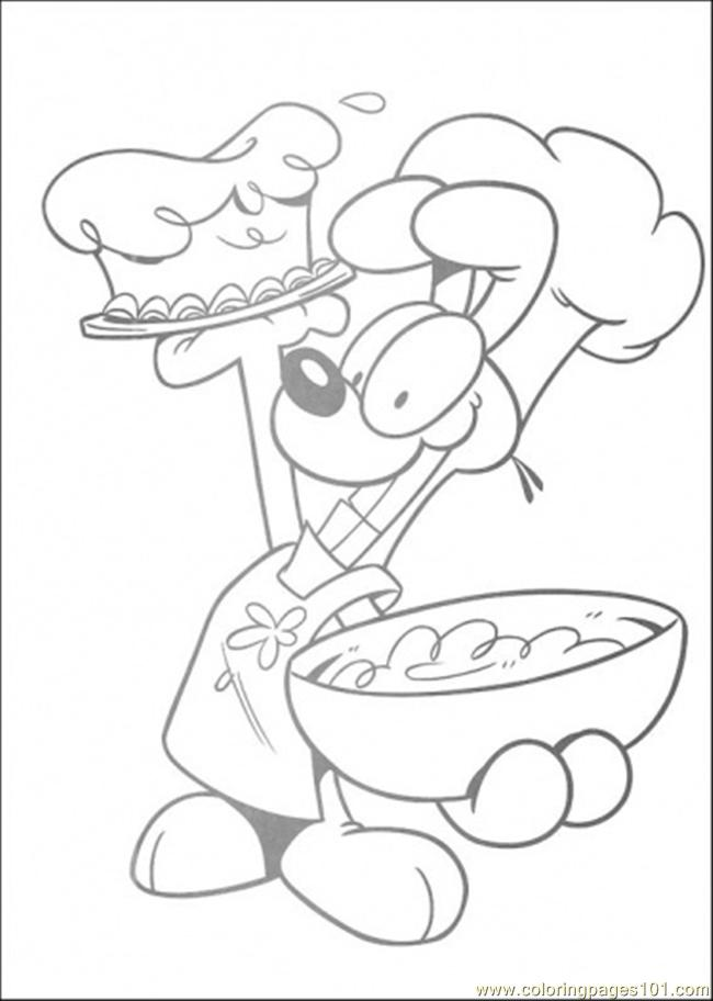 Oddie Chef Coloring Page