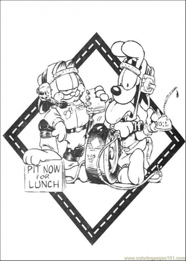 Pit Now For Lunch Coloring Page