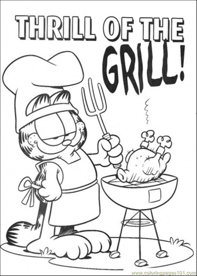 garfield color page cartoon characters coloring pages color plate ...