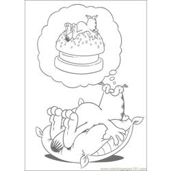 Garfield 102 coloring page