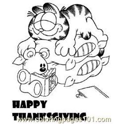 Anksgivingmed coloring page