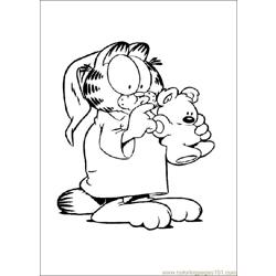 Garfield 004 coloring page