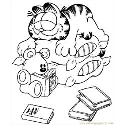 Garfield 012 coloring page