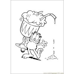 Garfield 05 coloring page