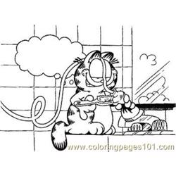Garfield1 Med coloring page