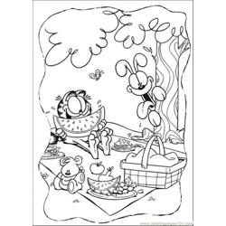 Happy Lunch Free Coloring Page for Kids