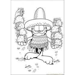 Mexican Food Free Coloring Page for Kids