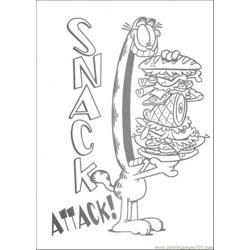 Snack Attack coloring page