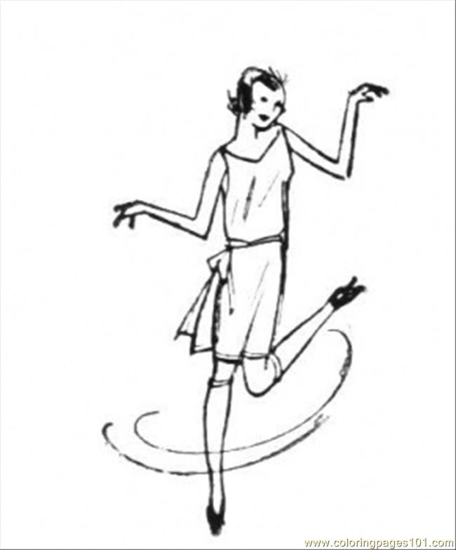 Dancing Woman Coloring Page