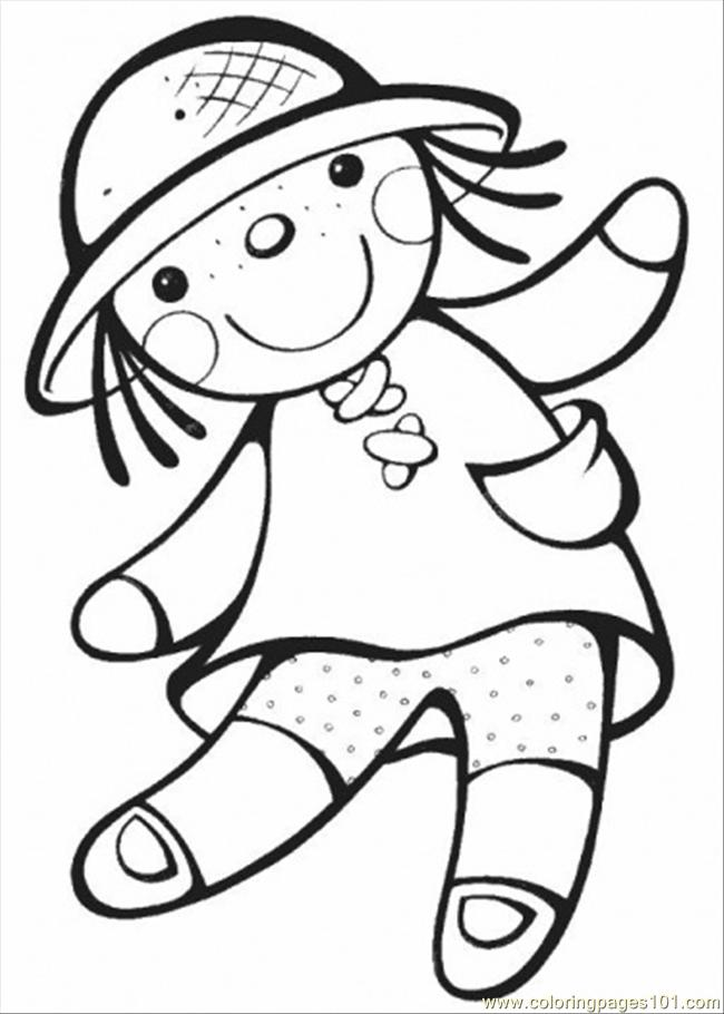 Doll Coloring Page - Free Gender Coloring Pages ...