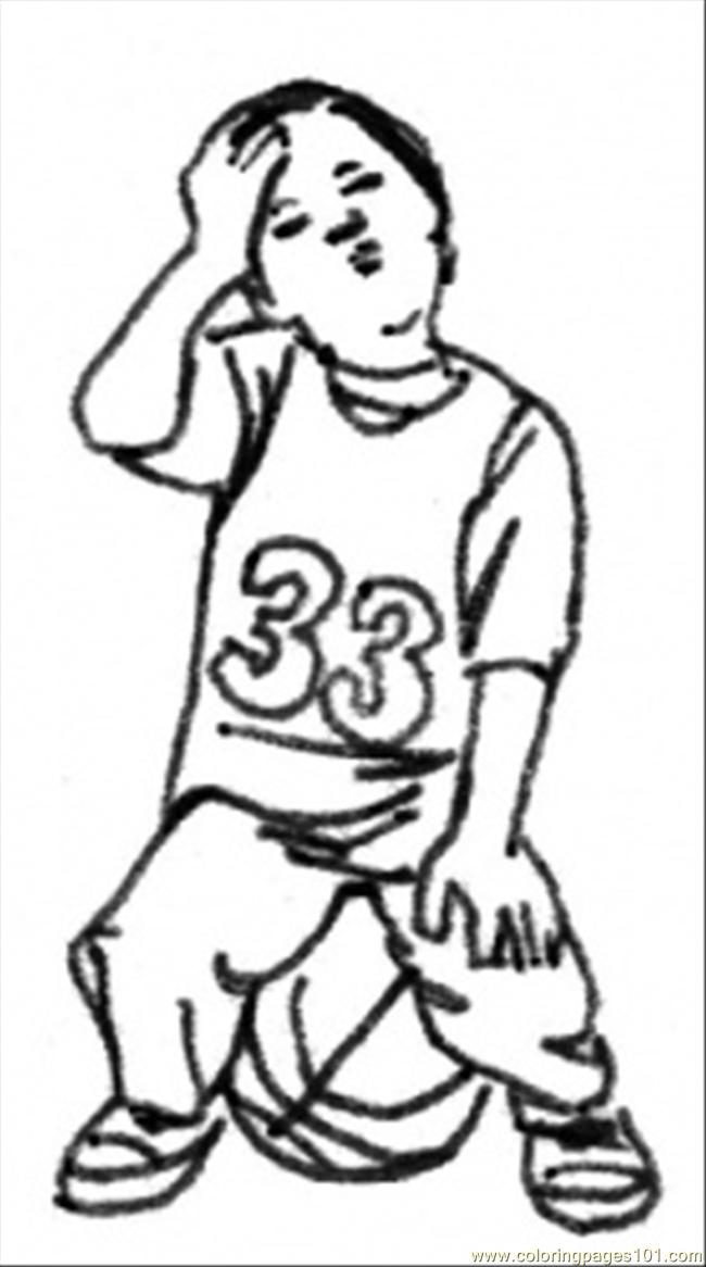 Future Sportsman Coloring Page