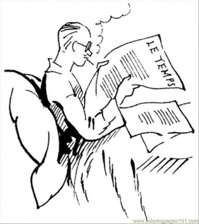 Man Is Reading The News
