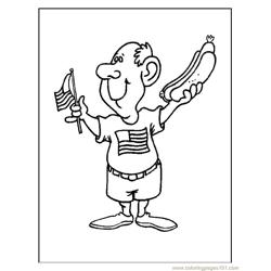 Man Free Coloring Page for Kids