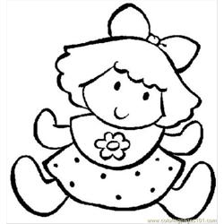 Funny Girl Free Coloring Page for Kids