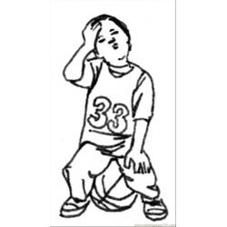 Future Sportsman Free Coloring Page for Kids