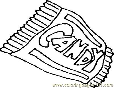 Candybar Coloring Page