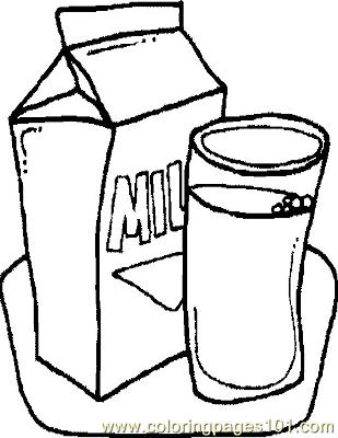 Milk Coloring Page Free General