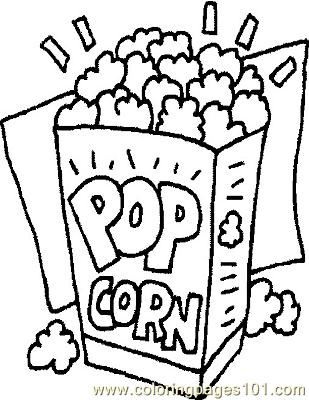 Popcorn Coloring Page Free General Foods Coloring Pages