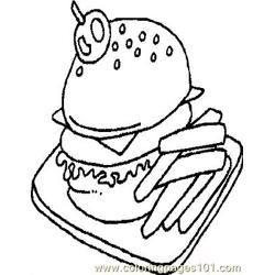Hamburgr coloring page