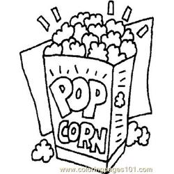 Popcorn coloring page