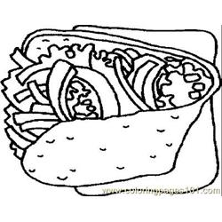 taco Coloring Pages - 5 'taco' worksheets for kids