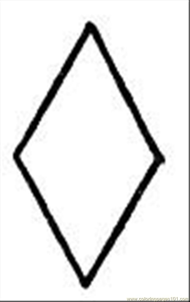 Rhomb 1 Coloring Page