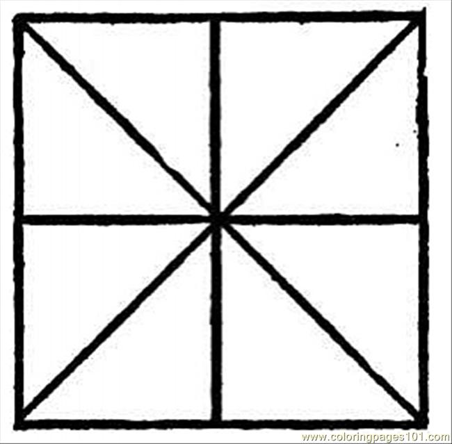 Square 3 Coloring Page