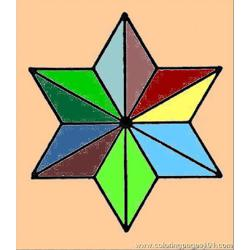 Triangle 14 coloring page